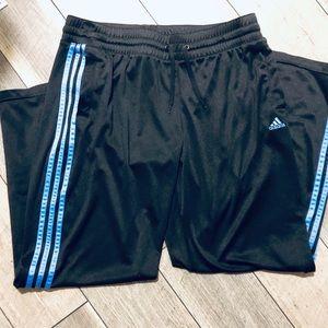 Adidas Navy 3-stripe Track Pants Men's XL EUC